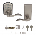 Honeywell Electronic Entry Lever Door Lock With Keypad In Satin Nickel, 8734301
