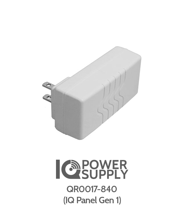 IQ PANEL POWER SUPPLY - QR0017-840 (12v for use with 1st generation IQ Panel)